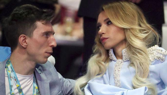 Юлия Самойлова с мужем Алексеем во время второго полуфинала 63-го международного конкурса песни...