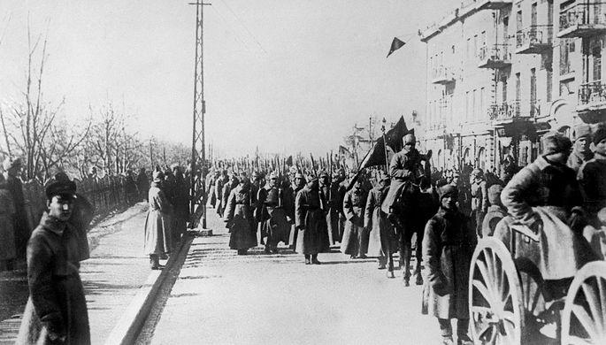 Народно-революционная армия Дальневосточной Республики на улицах Владивостока, 1922 год