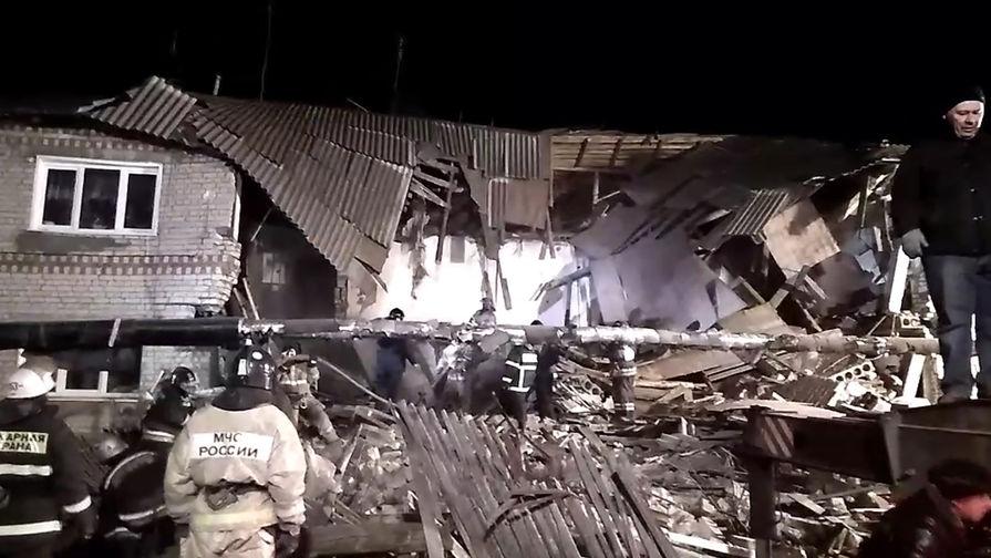 На месте двухэтажного дома в селе Филинское, где произошел взрыв бытового газа