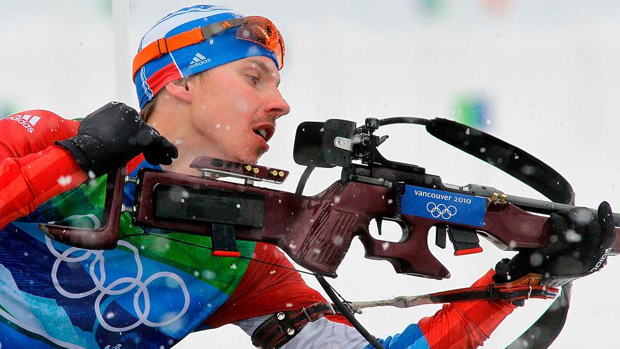 Евгений Устюгов во время эстафеты 4x7,5 км на XXI зимних Олимпийских играх, 2010 год