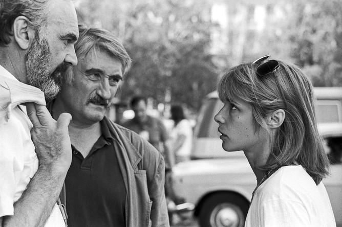Вера Глаголева с коллегами-кинематографистами на XV Московском международном кинофестивале, 1987 год