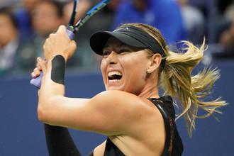 Мария Шарапова играет в четвертом круге US Open