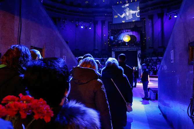 Церемония прощания с Олегом Поповым в Ростовском государственном цирке