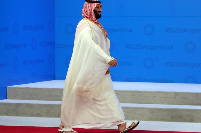 Наследный принц Саудовской Аравии Мухаммед ибн Салман Аль Сауд на форуме G20, 30 ноября 2018 года
