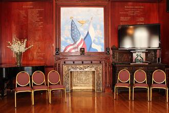 Интерьер Российско-американского зала Русского культурного центра в Вашингтоне