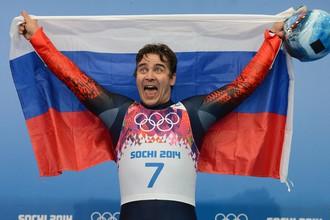Саночник Альберт Демченко завоевал серебро среди одиночников
