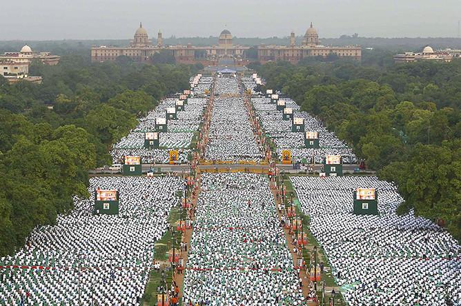 Международный день йоги в Дели
