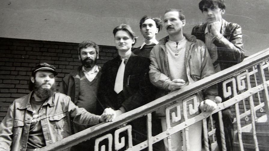 Группа «Звуки Му»: Александр Липницкий, Алексей Бортничук, Павел Хотин, Алексей Павлов, Петр Мамонов