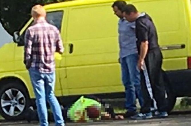 На месте нападения на пост ДПС на Щелковском шоссе