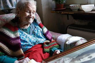 116-летняя Эмма Морано в июне 2015 года