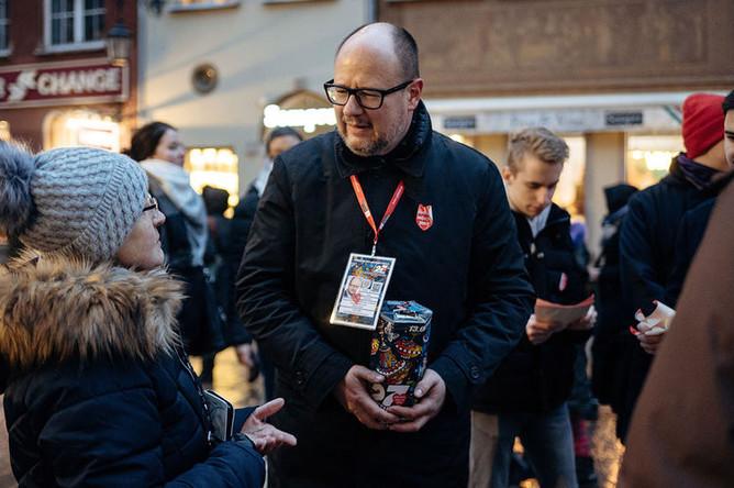 Мэр Гданьска Павел Адамович, 13 января 2019 года