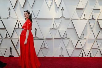 Актриса Рэйчел Вайс на красной дорожке перед началом церемонии вручения кинопремии «Оскар» в Лос-Анджелесе, 24 февраля 2019 года