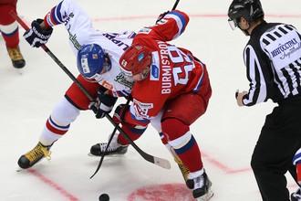 Россия против Чехии в Еврохоккейтуре