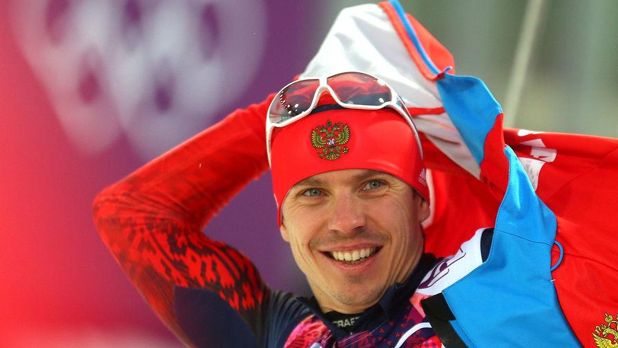 Евгений Устюгов после гонки преследования на 12,5 км в соревнованиях по биатлону на XXII зимних Олимпийских играх, 2014 год
