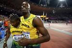 Триумфаторы стометровки — ямайцы Усэйн Болт и Йохан Блэйк