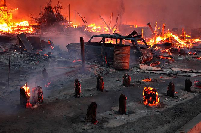 В Рязанской области из-за лесных пожаров сгорели четыре деревни
