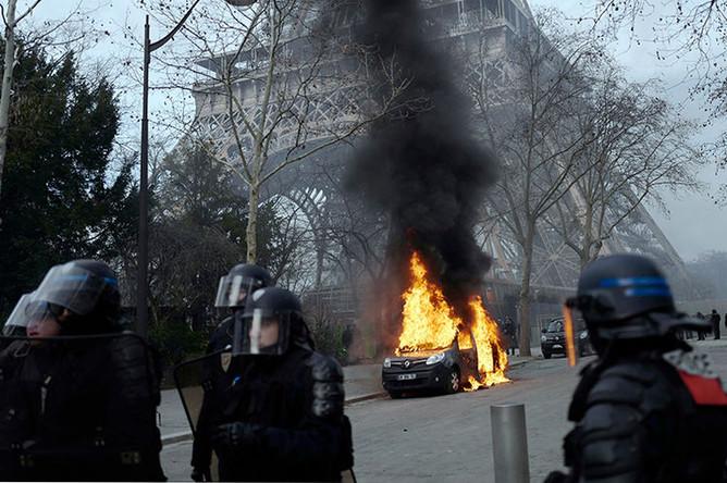 Протесты «желтых жилетов» в Париже, 9 февраля 2019 года