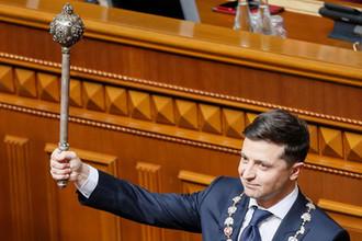 Владимир Зеленский во время инаугурации, 20 мая 2019 года