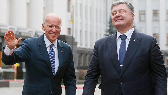 Вице-президент США Джо Байден и президент Украины Петр Порошенко