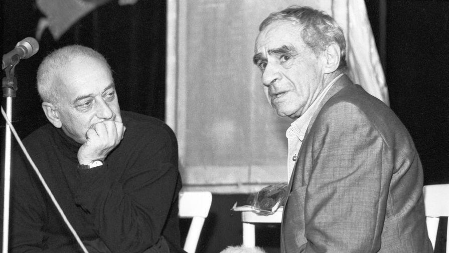 Резо Габриадзе и Зиновий Гердт на Международном фестивале семейных театров, 1994 год