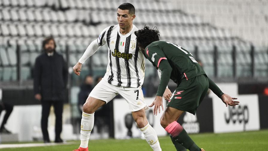 Нападающий «Ювентуса» Криштиану Роналду в матче с «Кротоне»
