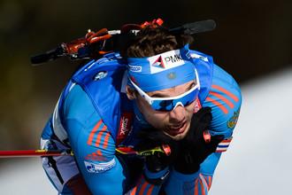 Антон Шипулин на чемпионате мира по биатлону
