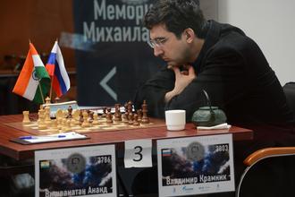 14-й чемпион мира по шахматам Владимир Крамник принимает участие в швейцарском супертурнире имени Виктора Корчного