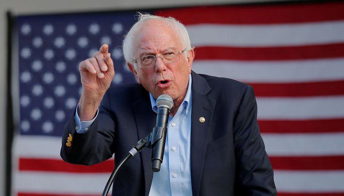 Кандидат в президенты США от демократов Берни Сандерс во время мероприятия кампании в Нью-Гэмпшире, 1 сентября 2019 года