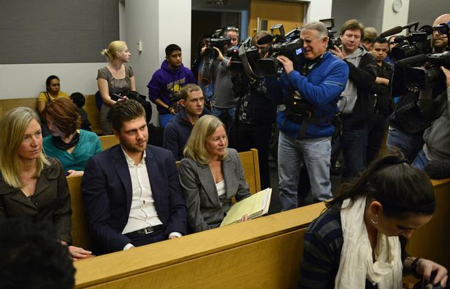 Семен Варламов в зале суда Денвера