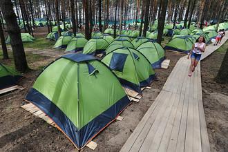 Палатки участников 10-го Всероссийского молодежного форума «Селигер-2014»