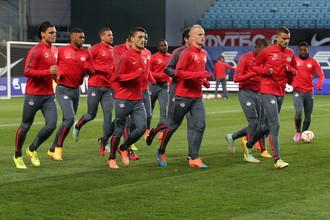 Тренировка ПСВ «Эйндховен» накануне матча Лиги Европы против «Динамо»