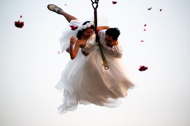 Свадебный прыжок в Таиланде