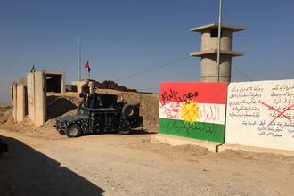Иракские силы безопасности около нефтяных месторождений в Киркуке, 16 сентября 2017 года