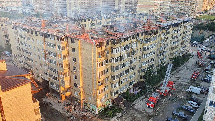 Последствия пожара в многоквартирном жилом доме в Краснодаре, 13 сентября 2020 года