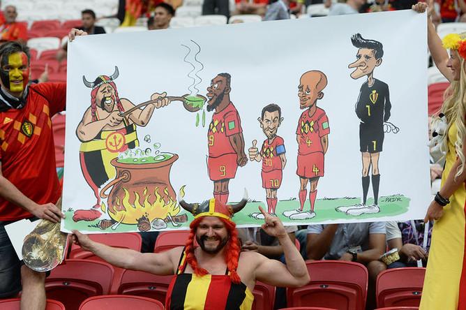 Во время матча 1/4 финала чемпионата мира по футболу между сборными Бразилии и Бельгии, 6 июля 2018 года