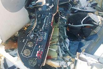 Последствия крушения легкомоторного самолета в абхазской Пицунде, 27 июля 2017 года