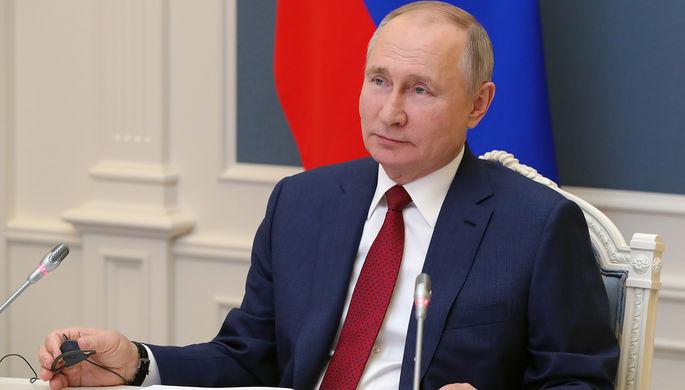 Президент РФ Владимир Путин выступает по видеосвязи на сессии «Давосская повестка дня 2021» Всемирного экономического форума (ВЭФ), 27 января 2021 года