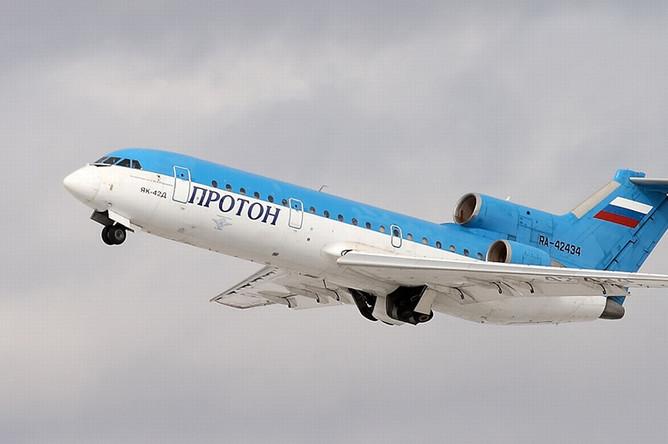 Самолет Як-42Д, потерпевший катастрофу 7 сентября под Ярославлем