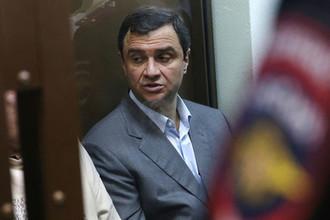 Экс-замминистра культуры России Григорий Пирумов перед началом оглашения приговора в Дорогомиловском суде Москвы, 9 октября 2017 года