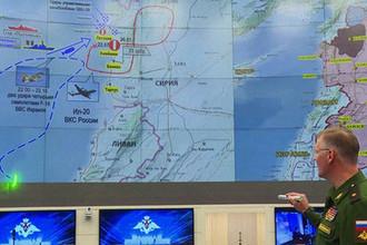 Официальный представитель министерства обороны России генерал-майор Игорь Конашенков во время официального заявления по поводу крушения самолета Ил-20 в Сирии, 18 сентября 2018 года