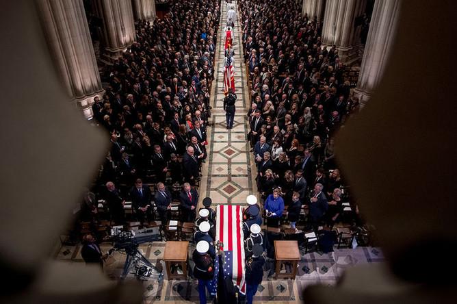 Церемония прощания с 41-м президентом США, Джорджем Бушем-старшим, 5 декабря 2018 года
