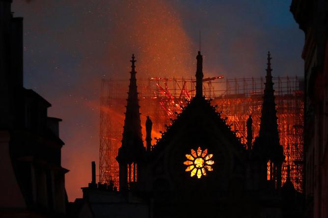 Пожар в Нотр-Дам-де-Пари, 15 апреля 2019 года