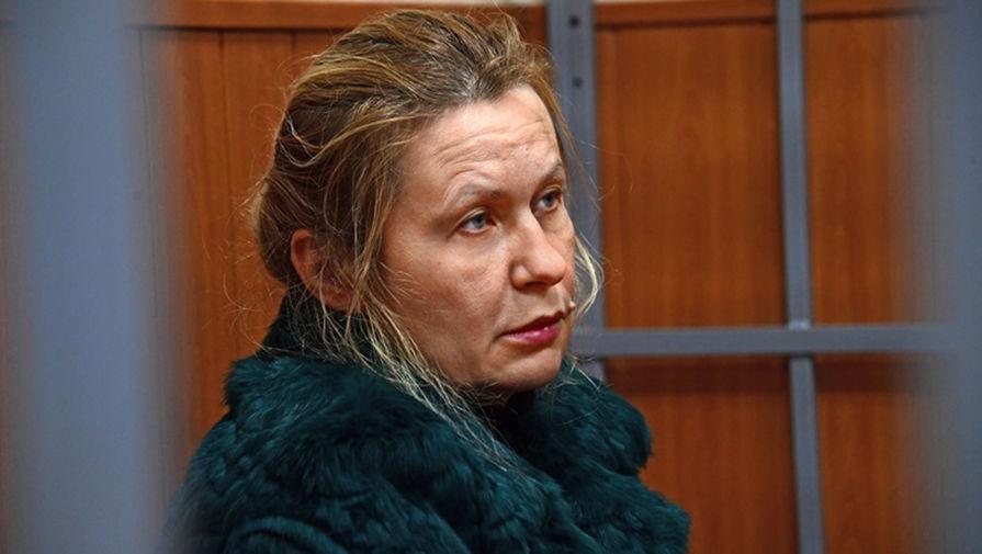Бывшая помощница заместителя председателя правительства России Аркадия Дворковича Анастасия Алексеева, обвиняемая по делу о коррупции во время заседания Басманного районного суда, 20 февраля 2020 года