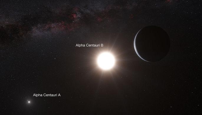 В 2012 году астрономы ESO выяснили о возможном наличии планет в системе Альфа Центавра