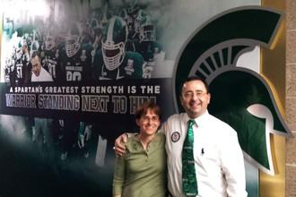 Бывший врач сборной США по гимнастике Ларри Нассар со своей женой