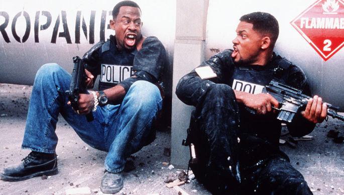 Уилл Смит и Мартин Лоуренс в кадре из фильма «Плохие парни» (1995)