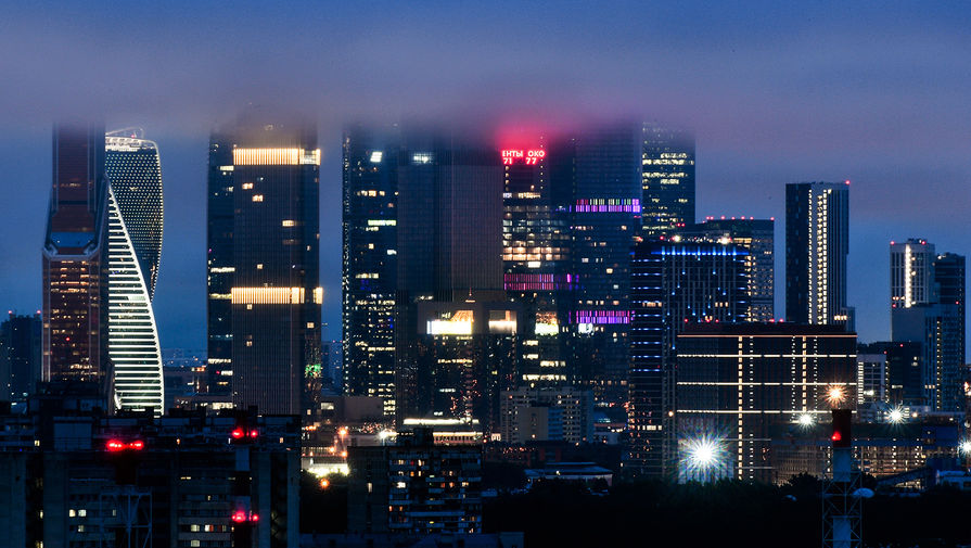 Вид на международный деловой центр «Москва-Сити»