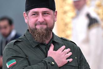 Глава Чечни Рамзан Кадыров во время встречи Владимира Путина с королем Саудовской Аравии Сальманом бен Абдель Азизом Аль Саудом в Кремле, 5 октября 2017 года