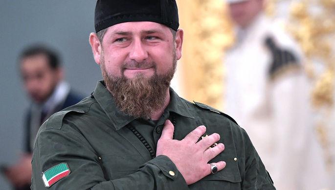 Глава Чечни Рамзан Кадыров во время встречи Владимира Путина с королем Саудовской Аравии Сальманом...