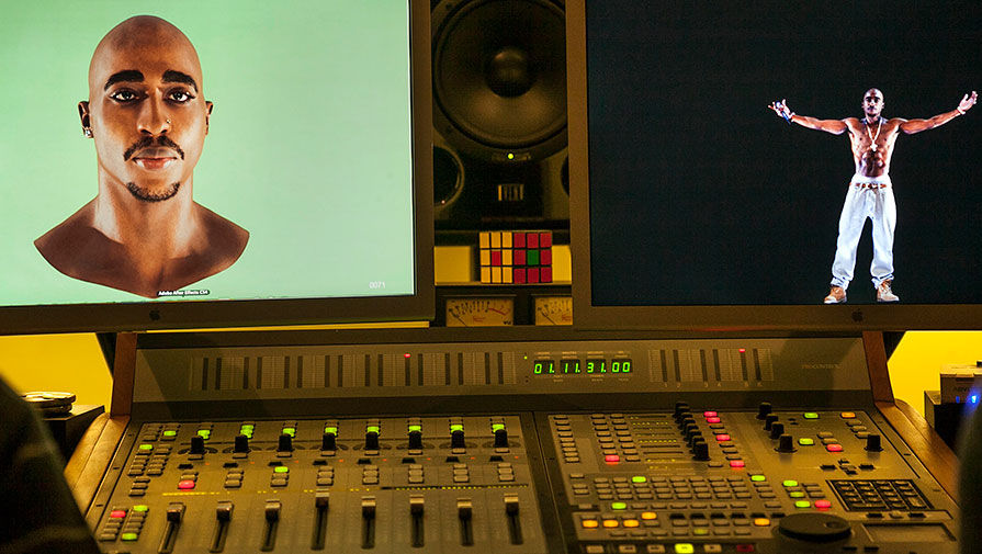 Создание голограммы Тупака Шакура для шоу, 2012 год